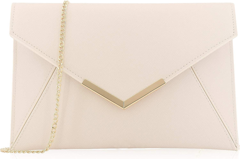 Tulsa Mall Dexmay Women Envelope Clutch Handbag Fol Saffiano Medium [Alternative dealer] Leather