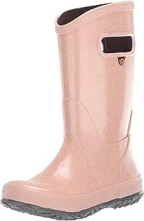 BOGS Kids Rainboots Waterproof Rubber Rain Boots for Boys and Girls, Glitter - Rose Gold, 12 M