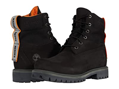 Timberland Treadlight 6 Waterproof Treadlight Boot (Black Nubuck) Men
