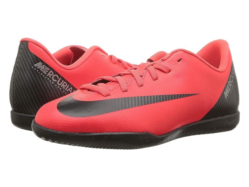 Nike Kids VaporX 12 Club CR7 IC Soccer (Little Kid/Big Kid) (Bright Crimson/Black/Chrome) Kids Shoes