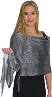 Formal Shawls and Wraps for Evening Dresses, Metallic Sparkle Wedding Shawl
