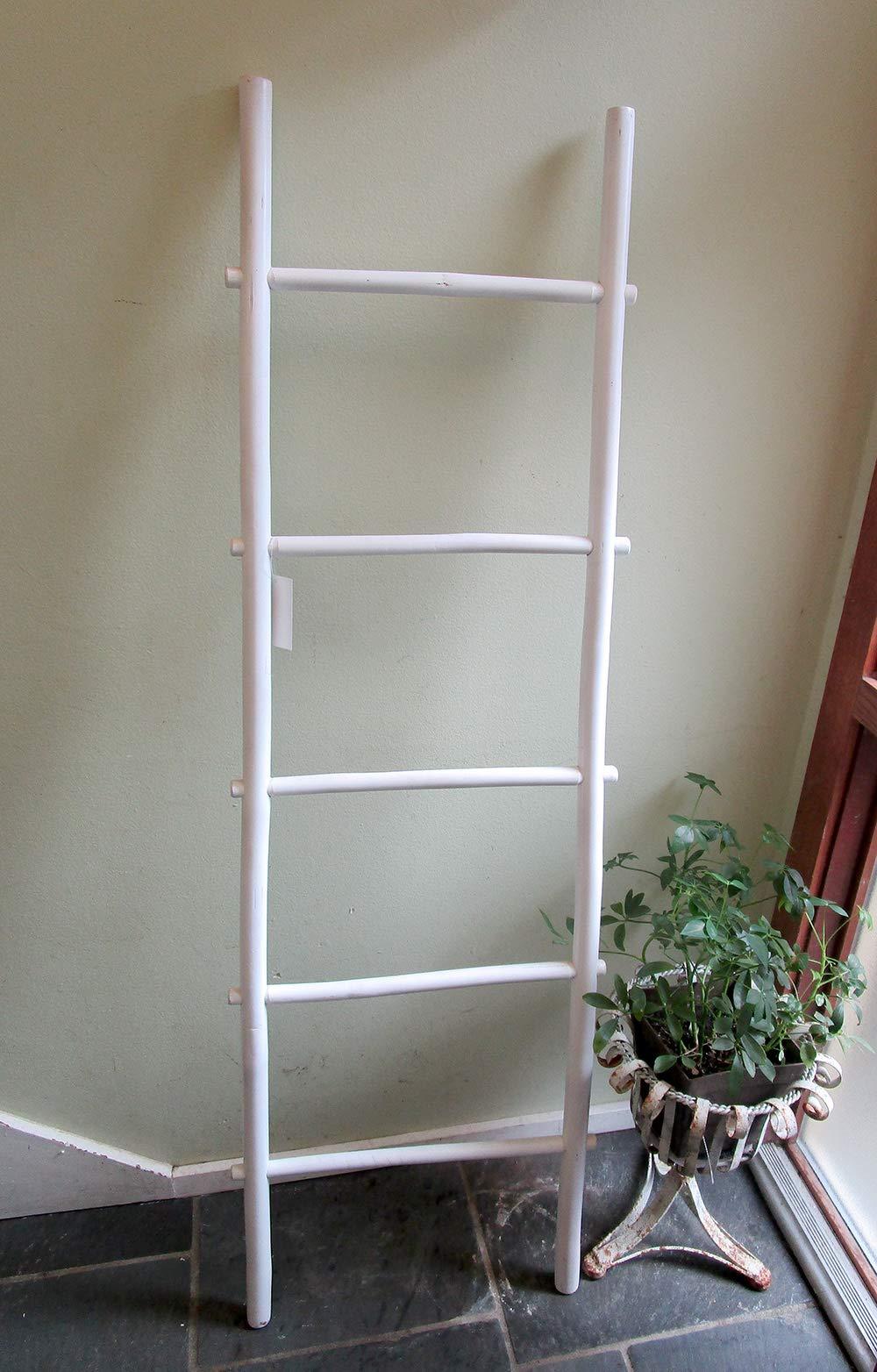 Master Garden Products 6 de bambú Escalera Estante, Blanco Mancha Acabado: Amazon.es: Hogar