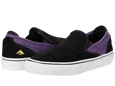 Emerica Wino G6 Slip-On (Black/Purple) Men