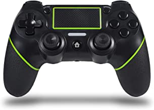 $27 » Sefitopher Wireless PS4 Controller for Playstation 4/Pro/Slim/PC Laptop, Professional PS4 Gamepad,Touch Panel Joypad with Dual Vibration, Instantly Timely Manner to Share Joystick (Green)
