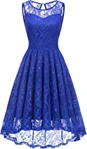 Gardenwed Women's Vintage Lace High Low Bridesmaid Dress Sleeveless Cocktail Party Swing Dress