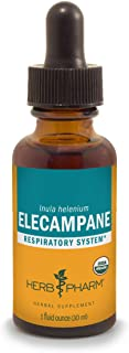 Herb Pharm Certified Organic Elecampane Liquid Extract for Respiratory System Support - 1 Ounce