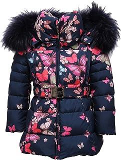 MANUDIECI 8027Y Piumino Bimba Girl Floral Down Padded Jacket