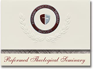 Signature Announcements Reformed Theological Seminary Graduation Announcements, Platinum Style, Elite Pack 20 with Reforme...