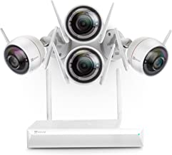 EZVIZ All-in-One Wi-Fi Security System - 1080P Surveillance Cameras with Built-in Siren, Two-Way Talk, Strobe Light and 8-...