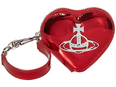 Vivienne Westwood Johanna Heart Coin Case (Red) Handbags