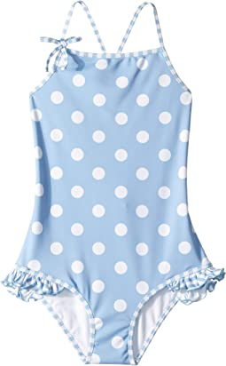 Polka Dot One-Piece Swimsuit (Toddler/Little Kids/Big Kids)