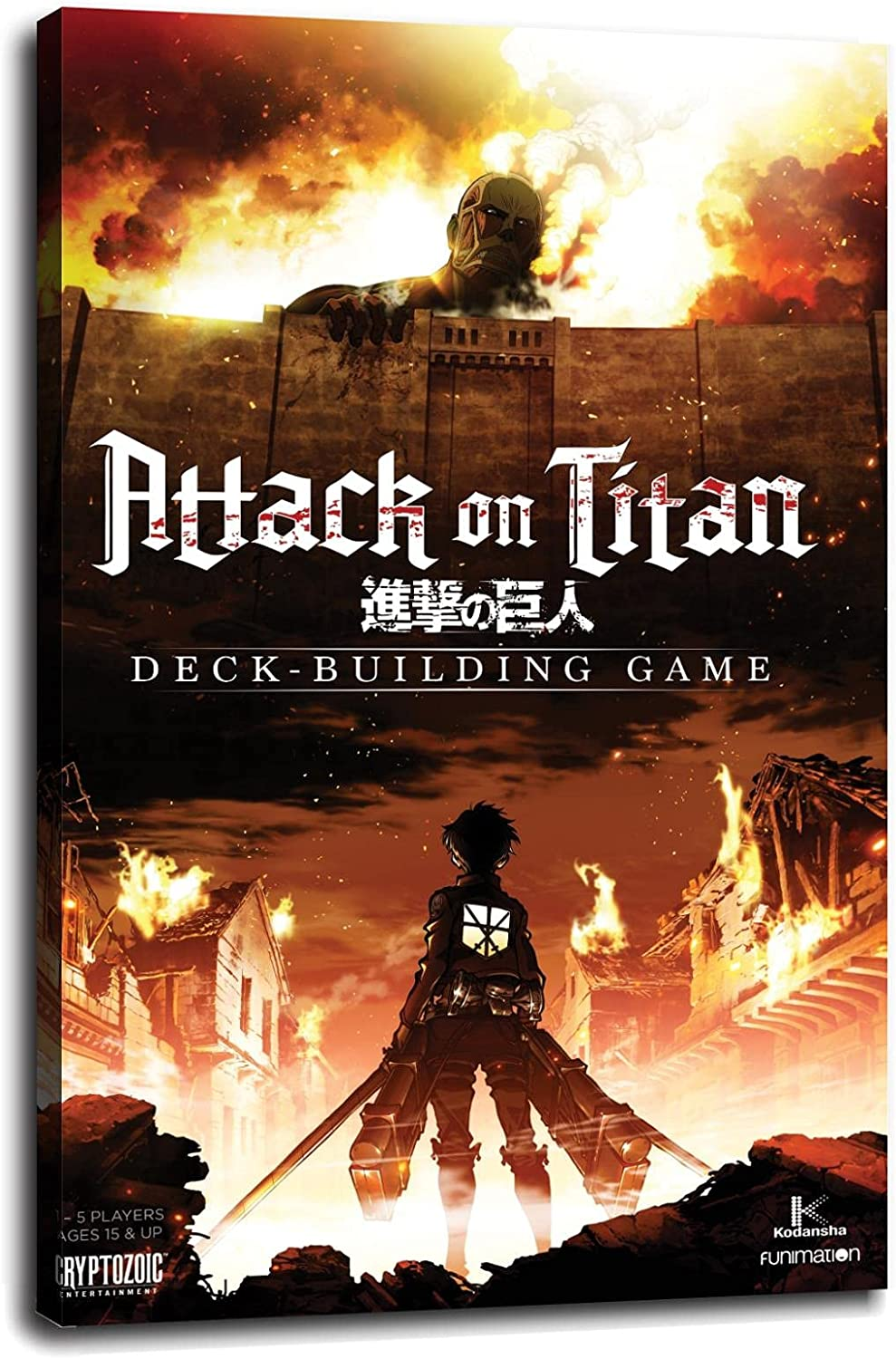 ATTACK ON TITAN - FIRE VIDEO Canvas GAME POSTER Poster 40% OFF Cheap Sale Prints OFFicial site Wa