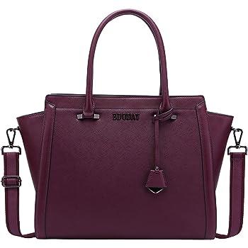 15.6 Inch Laptop Bag for Women,Multi-Pocket Laptop Briefcase Work Tote Bag Business Travel Bag,Darkpurple
