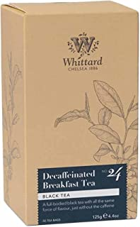 Whittard Tea Decaffeinated Breakfast Tea 50 Traditional Teabags