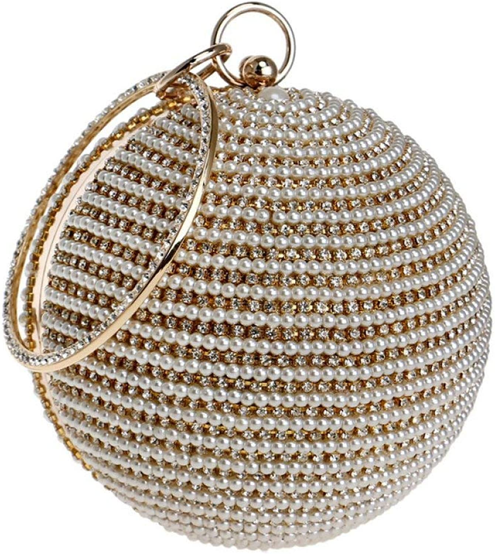 Hi-Smile Mini-Geldbörse Damen Ball Clutch Taschen Perle Abendtasche Party Prom Hochzeit Handtasche Handtasche Cross Body Bag Geldbörse (Farbe   Gold, Größe   12.5  12.5  12.5cm) B07PY3BKHJ  | Wirtschaftlich und praktisch