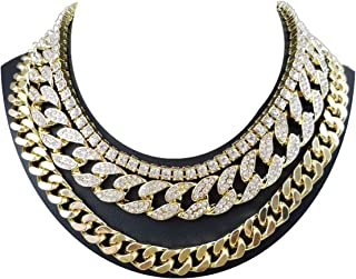 Time scent 14K Yellow Gold Plated Quavo Choker 20