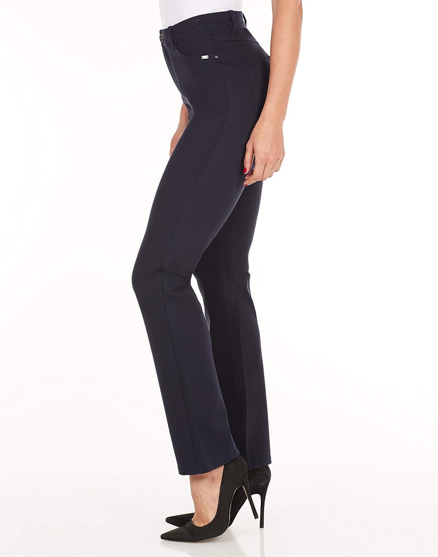 FDJ French Dressing Jeans Womens PDR Wonderwaist Suzanne Straight Leg in Navy