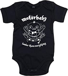 Racker-n-Roll MOTÖRBABY Louder Than Everything Baby Body schwarz