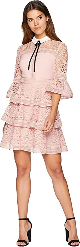 Starh Star Lace Ruffle Dress