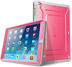 SUPCASE Heavy Duty Beetle Defense Series for iPad Air 1st Gen, Full-Body Rugged Hybrid Protective Case Cover with Built-in Screen Protector, not fit iPad Air 2&3 Gen (Pink)