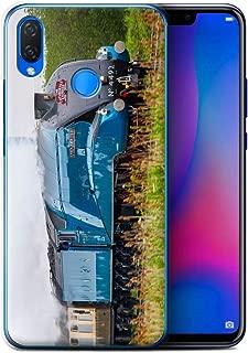 eSwish Phone Case/Cover for Huawei P Smart Plus/Nova 3i / Dominion NZ/Blue Design/Steam Locomotive Collection