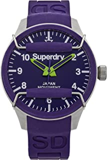 Superdry scuba Mens Analog Japanese quartz Watch with Rubber bracelet SYG125U