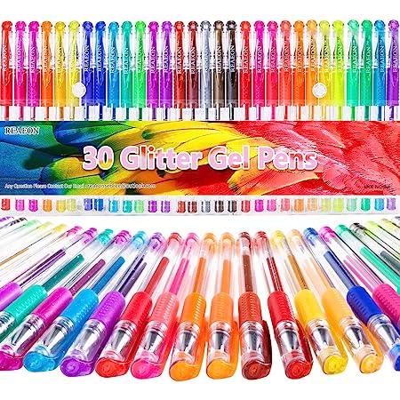 Glitter Gel Pens - Color Gel Pens - Gel Pen for Kids - Coloring Gel Pens Set - Sparkle Gel Pens for Adults Coloring Books Doodling Bullet Journaling