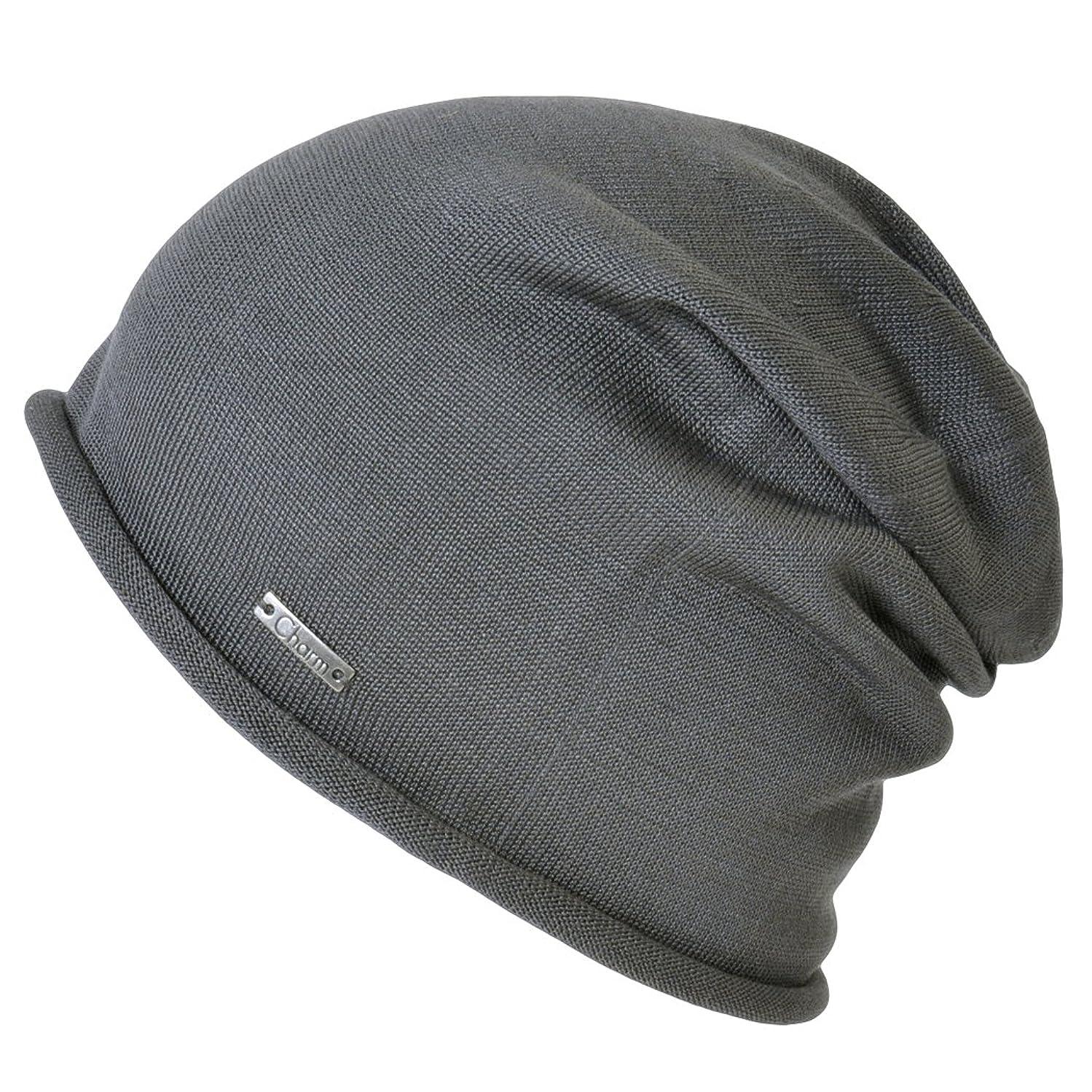Slouchy Summer Silk Beanie Cap - Soft Mens Chemo Hat Sensitive Skin Womens