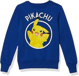 Pokemon Girls' Sweatshirt, Pikachu/Royal, Large (10/12)