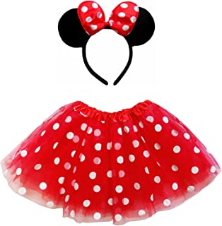 Kids Teen Adult Plus 2-3 Pc Tutu Skirt, Ears, Tail Headband Costume Halloween Outfit