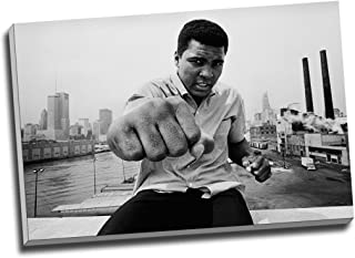 Panther Print Muhammad Ali Boxing Fist Punch Canvas Print Wall Art Picture Canvas Prints Large A1 30 X 20 Inches (76.2Cm X 50.8Cm)