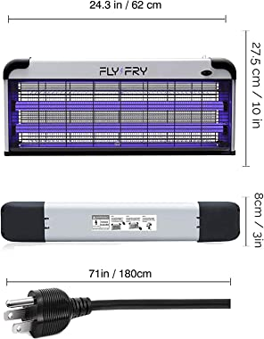 FLYFRY 2020 Indoor Mosquito Zapper 40W Electric Fly Killer Ultraviolet Fluorescent Tubes, New Model 2020 with 2 Extra UV Bulbs