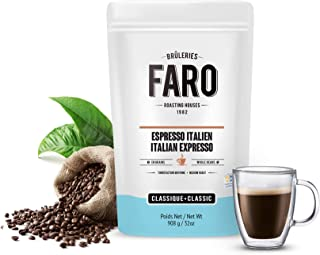 Faro Roasting House Italian Espresso Forte Whole Coffee Beans 2lb, A Luxury Bean For The Perfect Espresso Coffee - Strong And Rich Whole Bean Coffee - Fresh Medium Roast Coffee Beans (2 Pound Bag)