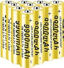 Rechargeable battery 18650, 3.7 V, 9900 mAh, Li-ion batteries, high batteries, environmentally friendly, high capacity, su...