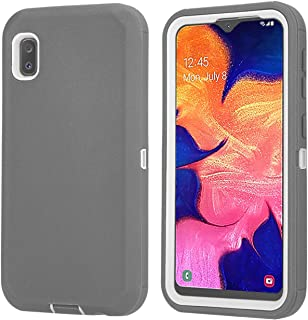 Aimoll-88 Galaxy A10E Case, with [Kickstand] [Built-in Screen Protector] 4in 1 Heavy Duty Full-Body Rugged Armor Shock Absorption Cover for Samsung Galaxy A10E (Grey/White)
