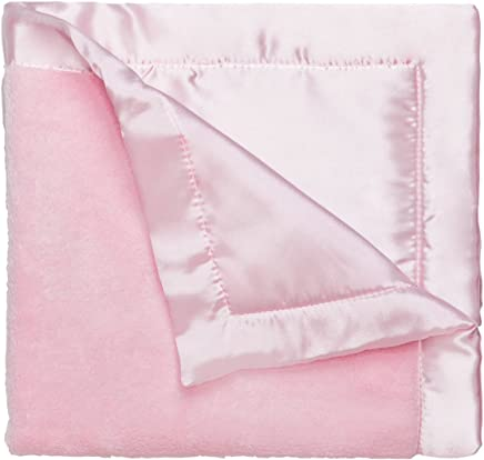 featured product Elegant Baby Ultra Plush security Blankie,  Satin Border and Back Blankie Pastel Pink,  20 x 20