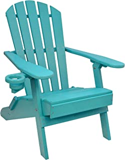 Outer Banks Value Line Poly Lumber Adirondack Chair (Aruba Blue)
