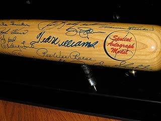 Hof Cooperstown Multi Autographed Signed Memorabilia Auto Bat 43 Sigs Ted Williams, Koufax, Yaz - JSA