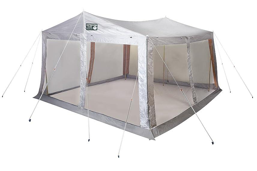 広く教義危険なキャプテンスタッグ(CAPTAIN STAG) テント タープ サンシェルター ラニーメッシュ [6人用]M-8717