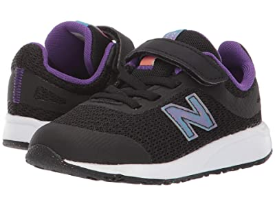 New Balance Kids 455v2 (Infant/Toddler) (Black/Rainbow) Girls Shoes
