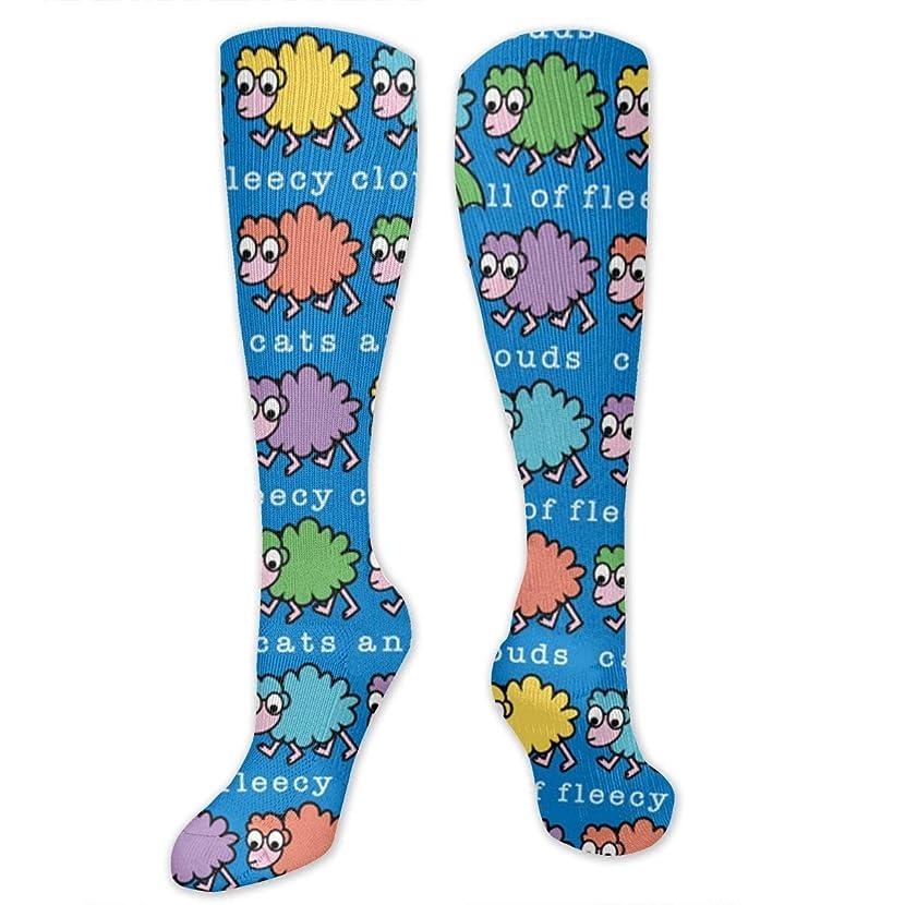 愛情導入する夕食を食べる靴下,ストッキング,野生のジョーカー,実際,秋の本質,冬必須,サマーウェア&RBXAA Sky Full Fleecy Clouds Socks Women's Winter Cotton Long Tube Socks Cotton Solid & Patterned Dress Socks