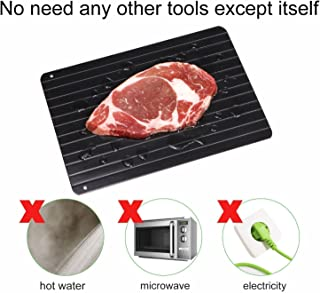 Fast Defrosting Tray Thawing Tray the Safest Way Meat Or Frozen Food Quickly without Electricity, Microwave, Hot Water or Any Other Tool