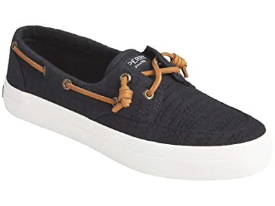 Sperry Crest Boat Smocked Hemp (Black) Women