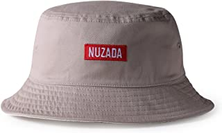 NUZADA Unisex Bucket Hat,Fashion Women's Letters Embroidered Sun Hat 100% Cotton Sun Cap for Fishing, Camping, Hiking, Beach Travel