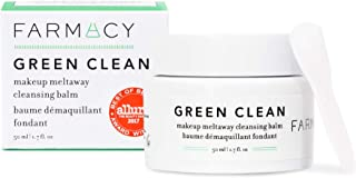 Farmacy Natural Makeup Remover - Green Clean Makeup Meltaway Cleansing Balm Cosmetic - Travel Size 1.7 oz