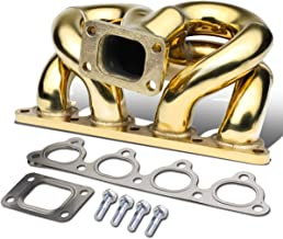 Anodized Stainless Steel 42mm T3 Ram Horn Exhaust Turbo Manifold for Acura Integra/Honda Civic/Del Sol B-Series