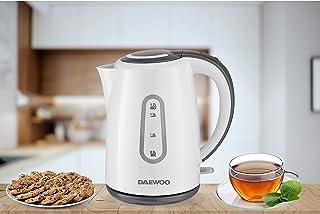 Daewoo 1.7 Liter Electric Kettle 2200W Korean Technology DEK8806 White/Grey - 2 Years Warranty