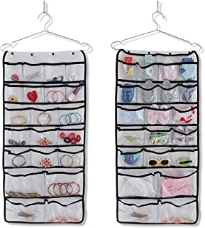 Cabilock Jewelry Storage Organizer Hanging Closet Dual-Sided Organizers 42 Pockets for Storage Bras Underwear Clothes Stoc...
