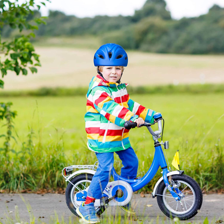 Kids Bike Helmet Toddler Bicycle Helmet Adjustable Helmet Cycling Helmets Lightweight Multi-Sport Helmet for Child Boys and Girls Age 3-7