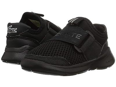 Lacoste Kids Lt Dash Slip 119 1 SUI (Toddler/Little Kid) (Black/Black) Kid
